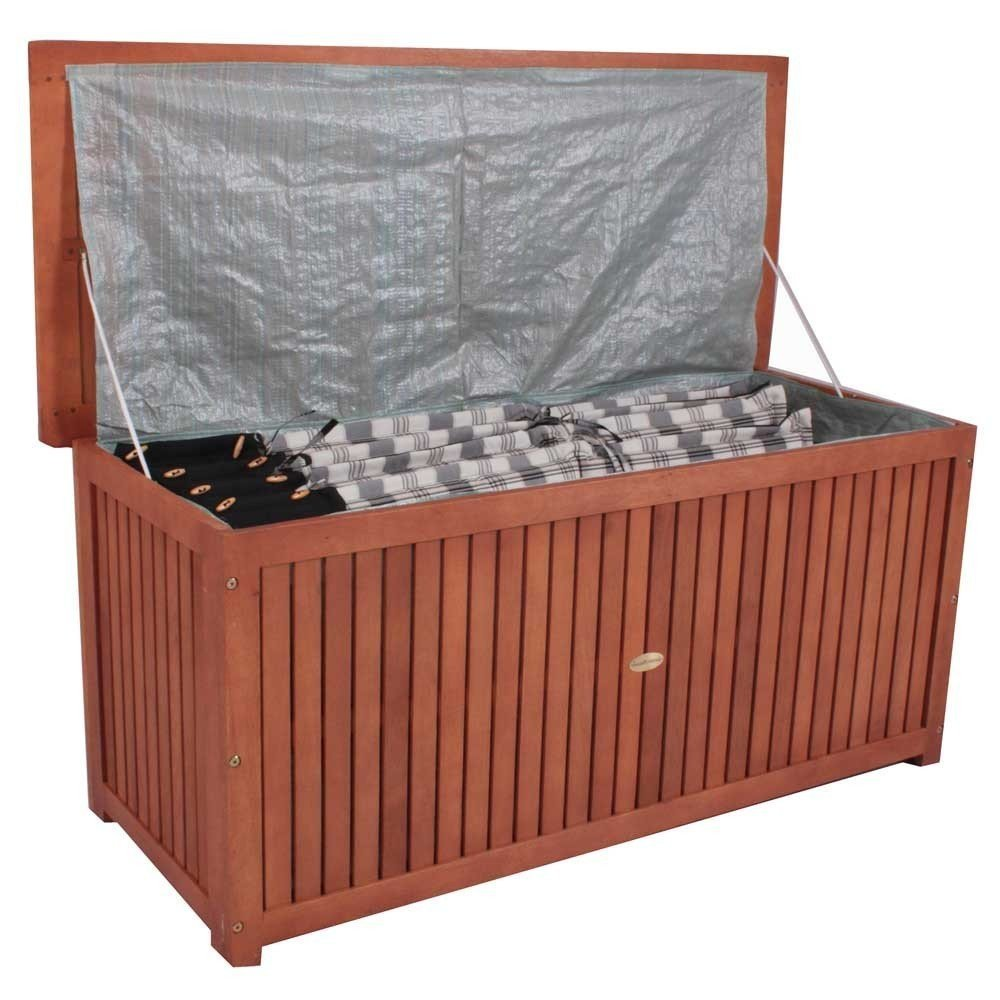 Auflagenboxen  Hartholz Auflagenbox Akazie / 120x58x55cm: Amazon.de: Garten
