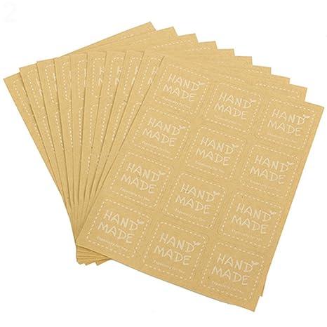Amazon.com: Gilroy hecho a mano pegatinas papel calcomanía ...