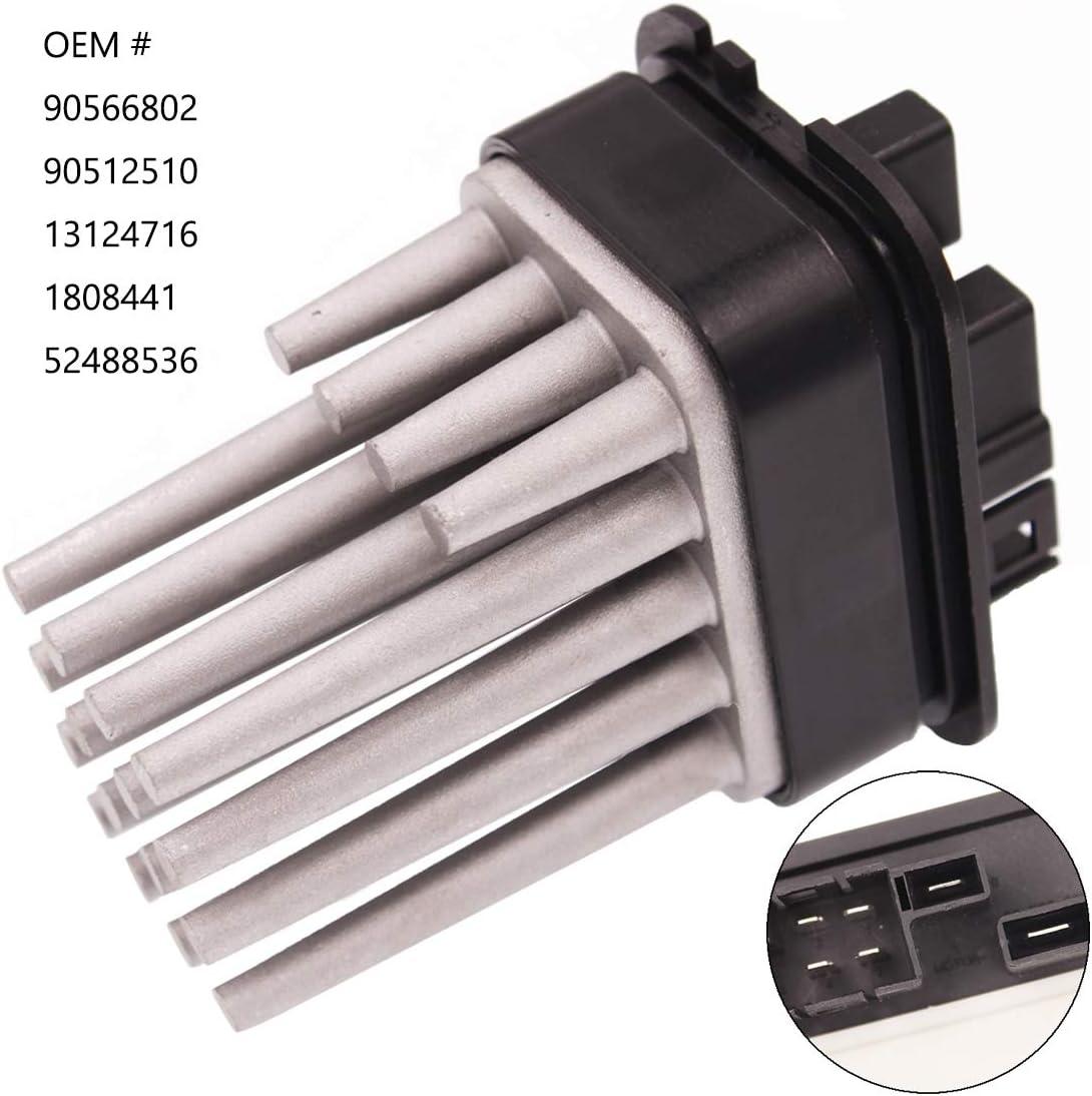 HZYCKJ Resistencia del regulador del motor del ventilador OEM # 90566802 90512510 13124716 1808441 52488536