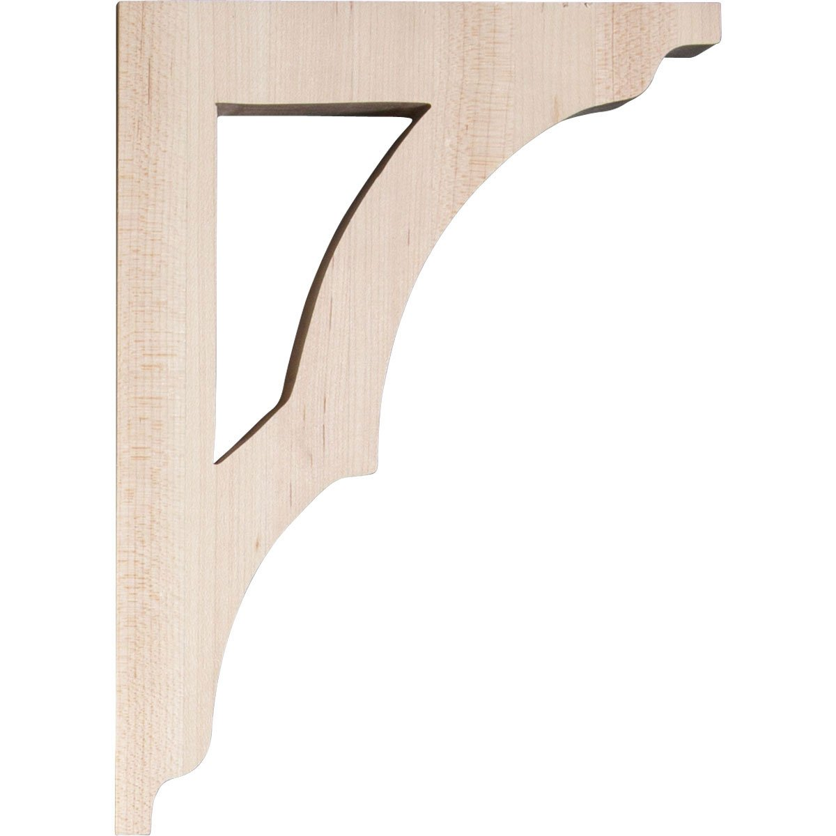 x x Piece Maple 6-Pack Ekena Millwork BKTW01X06X09AVMA-CASE-6 1 3//4W x 6 1//2D x 9H Small Avila Wood Bracket
