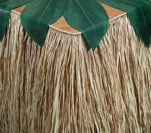 Raffia Table Skirting Party Table (Diy Tiki Hut)