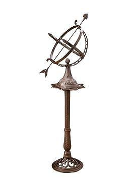 aubaho Reloj solar de 122 cm de hierro decoración del jardín nostálgico antiguos: Amazon.es: Jardín