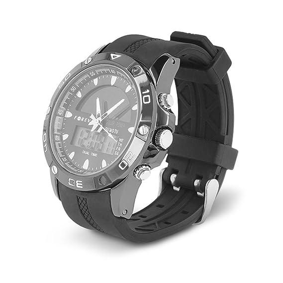 Forever DW-300 Reloj Digital para Hacer Deporte Universal Multifunción Impermeable Ecológico Carga Solar con luz: Amazon.es: Relojes