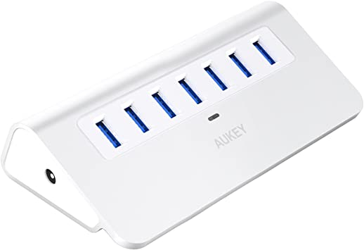 Aukey USB Type-C to 7-Port USB 3.0 Aluminum Hub