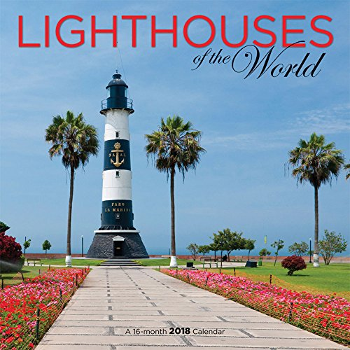 Lighthouses of The World 2018 12 x 12 Inch Monthly Square Wall Calendar by Wyman, Scenic Travel Landmarks Lighthouse