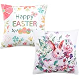 Anickal 装饰抱枕套 带引语 It's Better to Be Queen18 x 18 英寸 适用于沙发沙发装饰 Set of 2 Easter Bunny Pillow Covers 18 x 18 Anickal