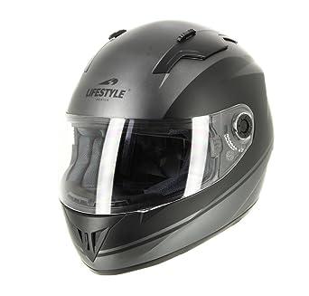 Lifestyle casco Moto Scooter Ciudad integral ls-815 hombre mujer niño negro mate gris