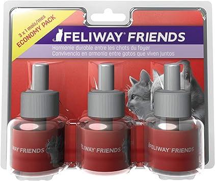 FELIWAY Friends - Anticonflictos para gatos - Peleas, Persecuciones, Bufidos, Bloqueos - Pack ahorro 3 recambios 48 ml: Amazon.es: Productos para mascotas