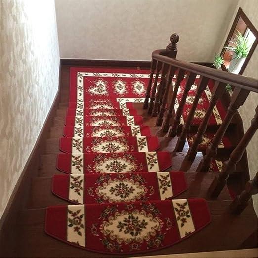 KY Antideslizantes alfombras de Escalera 10 Piezas de escaleras de alfombras escalones Tread Mat Colorido Antideslizante 65x24x4cm Felpudo Alfombra Mat (Color : F): Amazon.es: Jardín