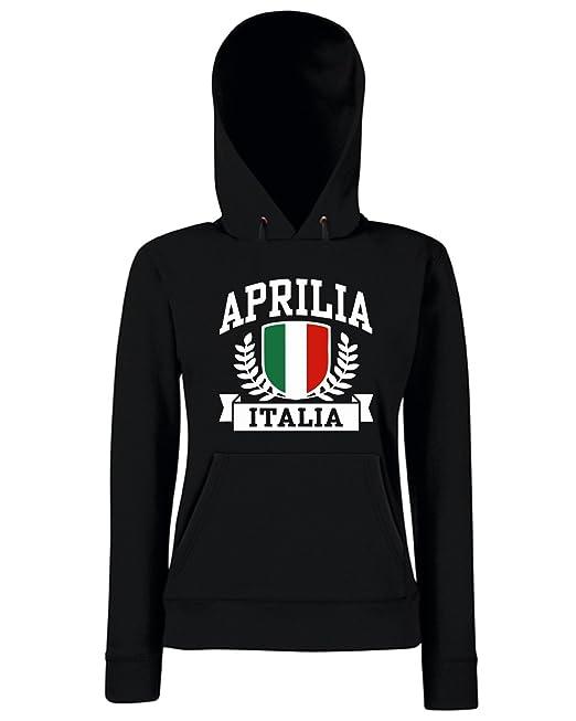 T-Shirtshock - Sudadera hoodie para las mujeras TSTEM0136 aprilia italia, Talla L: Amazon.es: Ropa y accesorios