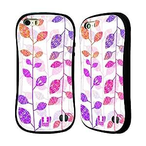 Head Case Designs Black Locust Foliage Aztec Hybrid Gel Back Case for Apple iPhone 5 5s