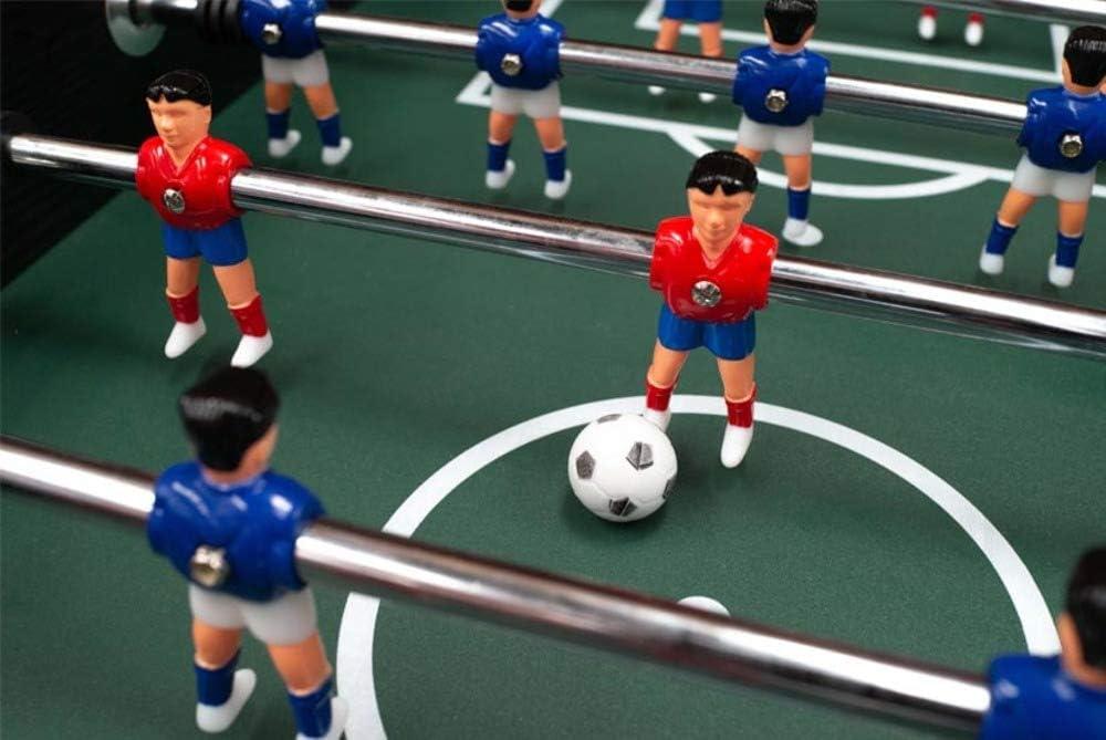 Devessport - Futbolín Diamond con jugadores de piernas abiertas - Gran tamaño - Barras de metal - Mango de plástico - Retorno de bolas - Posavasos - Dispone de marcadores - Medidas: