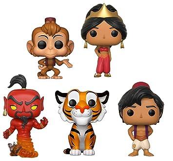 Funko Pop Aladdin Aladdin Abu Jasmine Red Dress Rajah