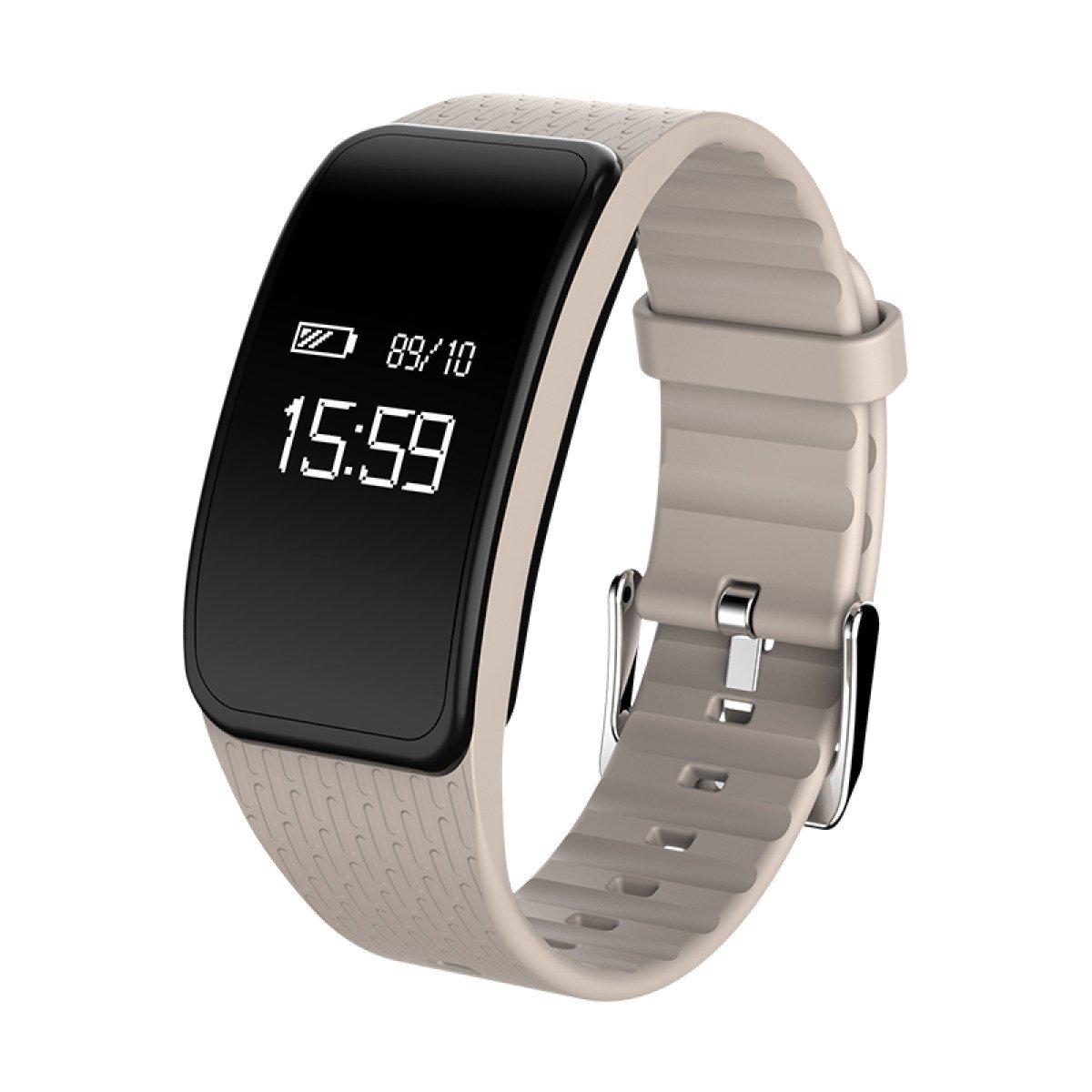 gexing kpuls Cuchillo brazalete deportivo inteligente Hombres y Mujeres Resistente al agua podómetro Monitor frecuencia cardíaca y tensiómetro de reloj: ...