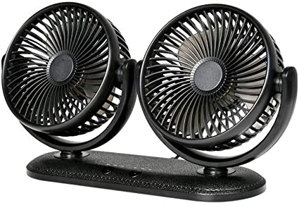 Car Fan Truck 12V Cooling Fan Protable Auto Fan 180 Rotating Air Cooling RV SUV
