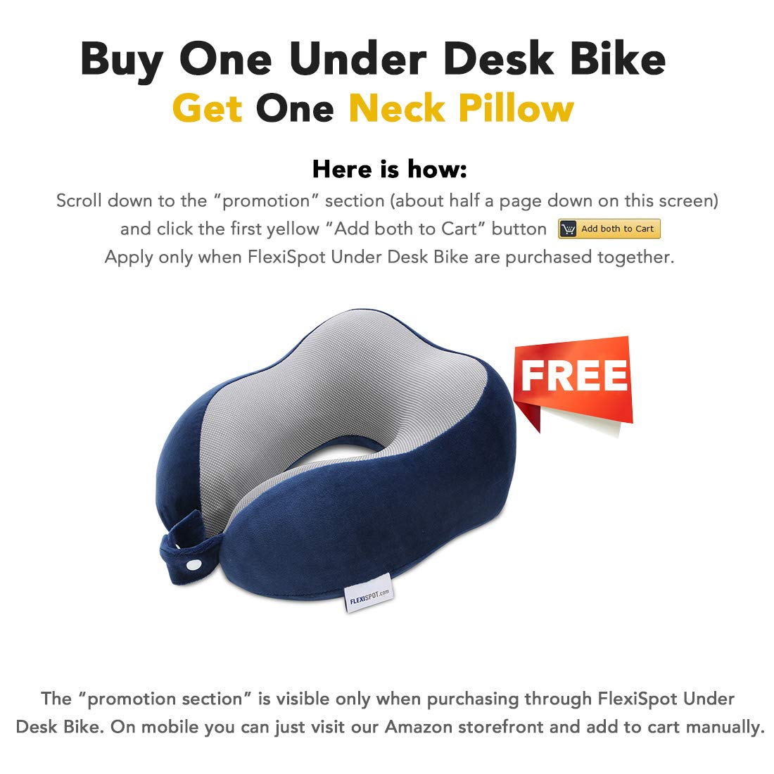 FLEXISPOT Home Office Under Desk Exercise Bike Height Adjustable Cycle - Deskcise Pro by FLEXISPOT (Image #2)