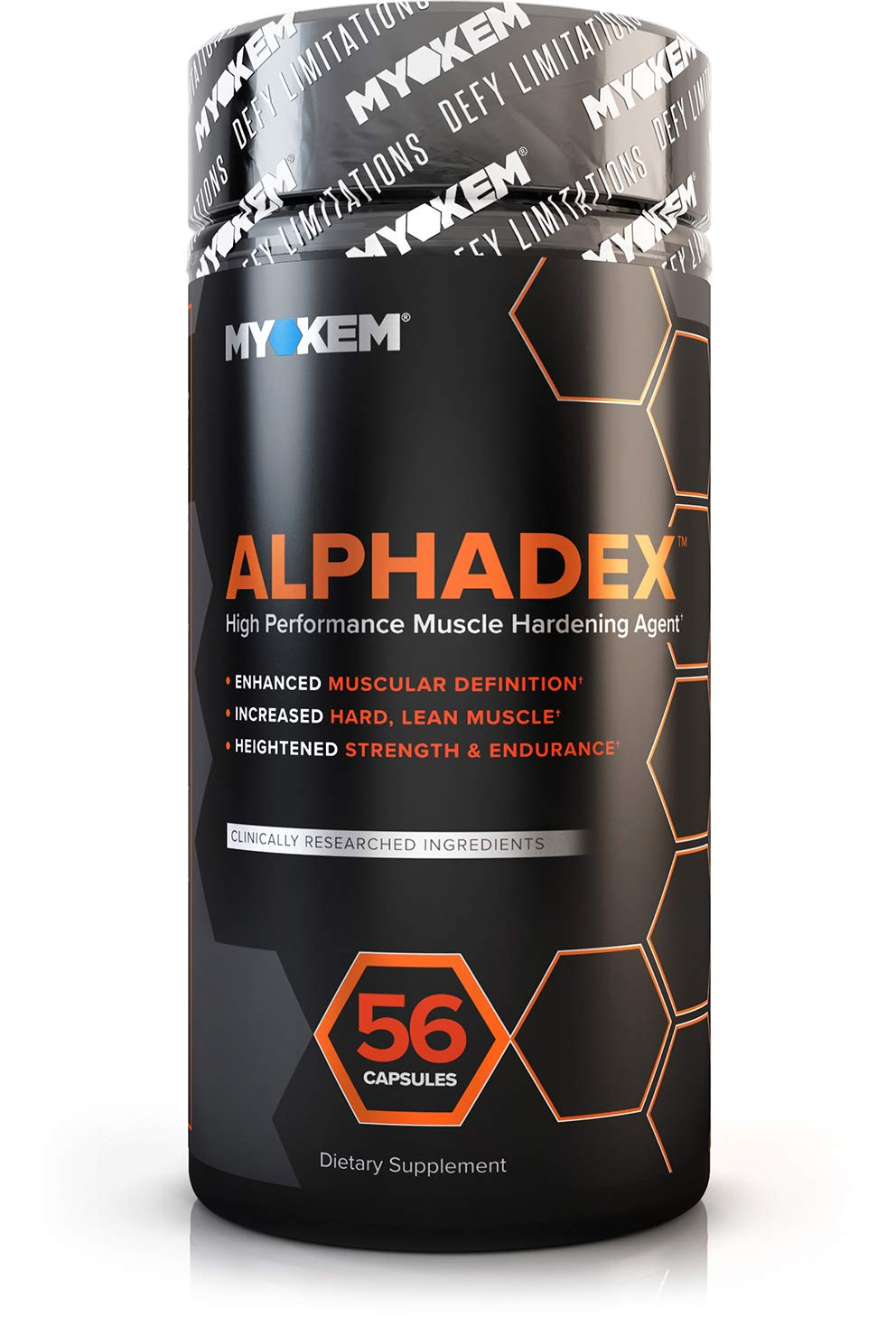 Alphadex Estrogen Blocker for Men | Innovative Aromatase Inhibitor, Anti Estrogen Fat Loss Hardening Agent and Testosterone Booster | Muscle Builder To Boost Performance, Energy, Stamina, 56 Servings. by MYOKEM