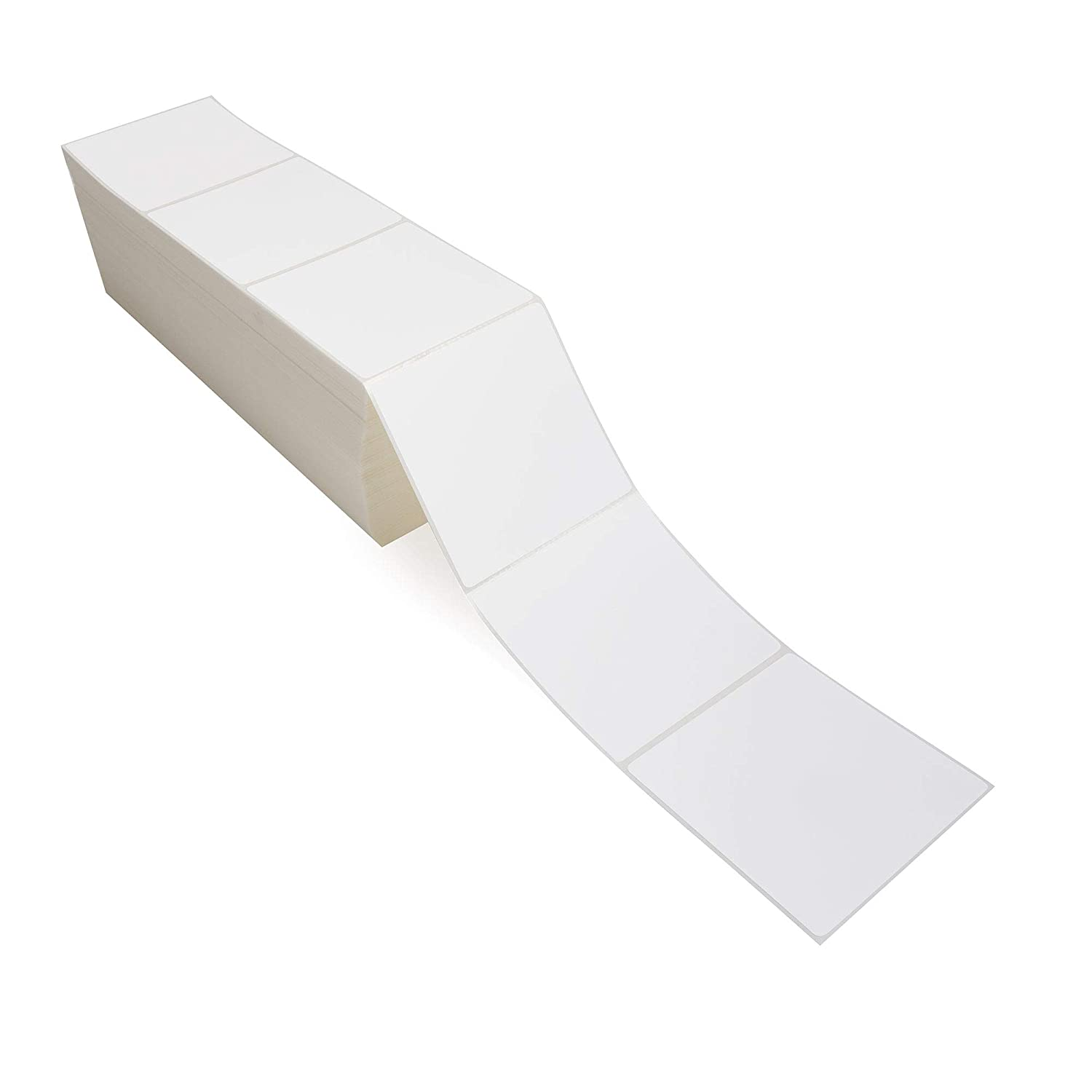 4x4 Direct Thermal Fanfold Labels 6000 Labels Per Box Smith Corona