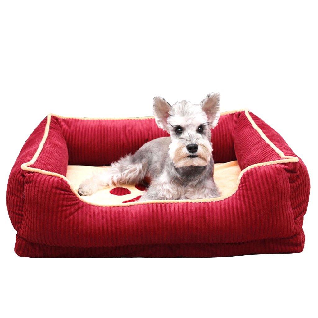 XXL-1109425CM Softgo Pet Bed Dog Mat Dog Kennel Removable and Washable Dog Mat Large Dog Kennel Pet Nest Four Seasons Universal Dog Bed (Size   XXL-110  94  25CM)