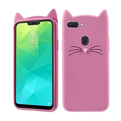new product 14c1a 6e17d Case Creation Oppo A5 Cat Covers,Cute 3D Mustache Cat: Amazon.in ...