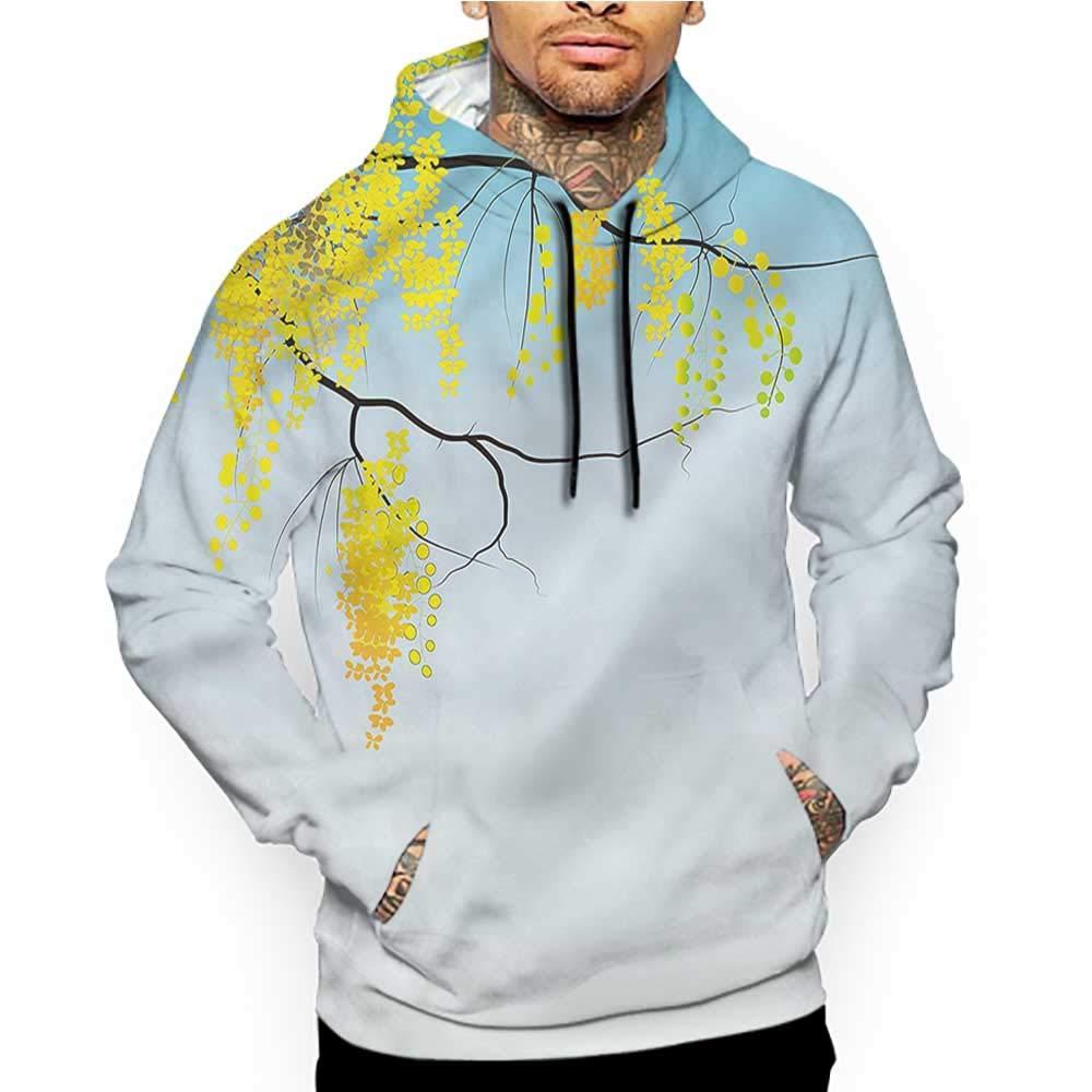 Hoodies Sweatshirt/Men 3D Print Floral,Shabby Pastel Foliage,Sweatshirts for Women Hoodie Pullover