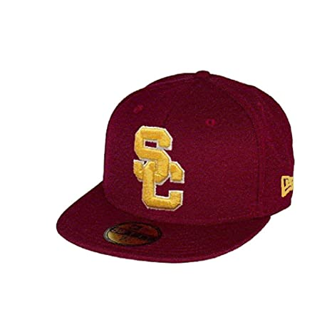 New Era Men s Usc Hat Ac Basic Cardinal Red Fitted 59fifty Cap (7 ... 316fea302a4
