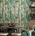 Wallpaper PVC retro style 3D imitation wood texture wallpaper decoration living room restaurant TV wall bedroom coffee shop clothing store hotel wallpaper 53 cm 1000 cm