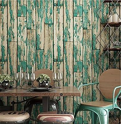 Wallpaper PVC retro style 3D imitation wood texture wallpaper decoration living room restaurant TV wall bedroom coffee shop clothing store hotel wallpaper 53 cm 1000 cm