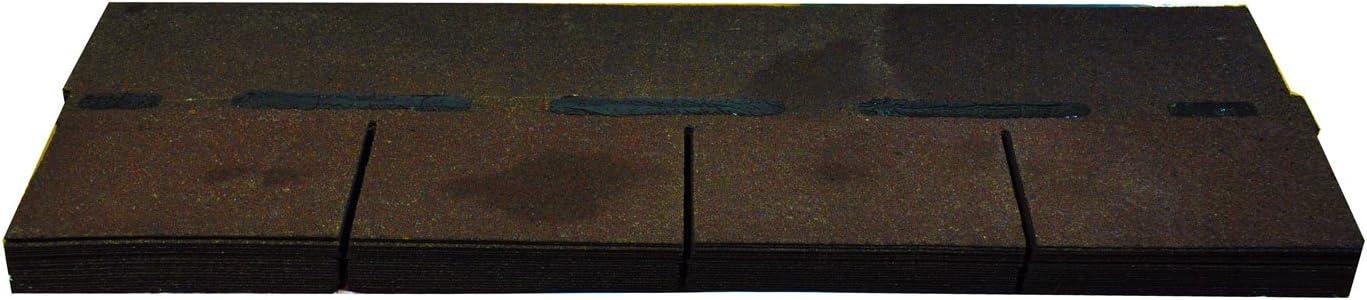 betún schindeln tejado de rectángulo cartón teja betún marrón 2,32 m²: Amazon.es: Bricolaje y herramientas