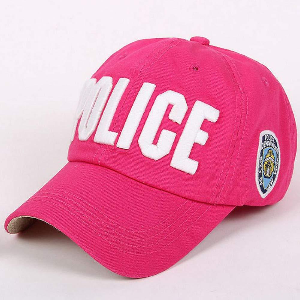 FXSYL Gorra de Beisbol Bordado 3D Texto Policía Gorra de béisbol ...