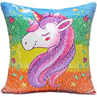 URSKYTOUS Unicorn Mermaid Pillow Case Decorative...