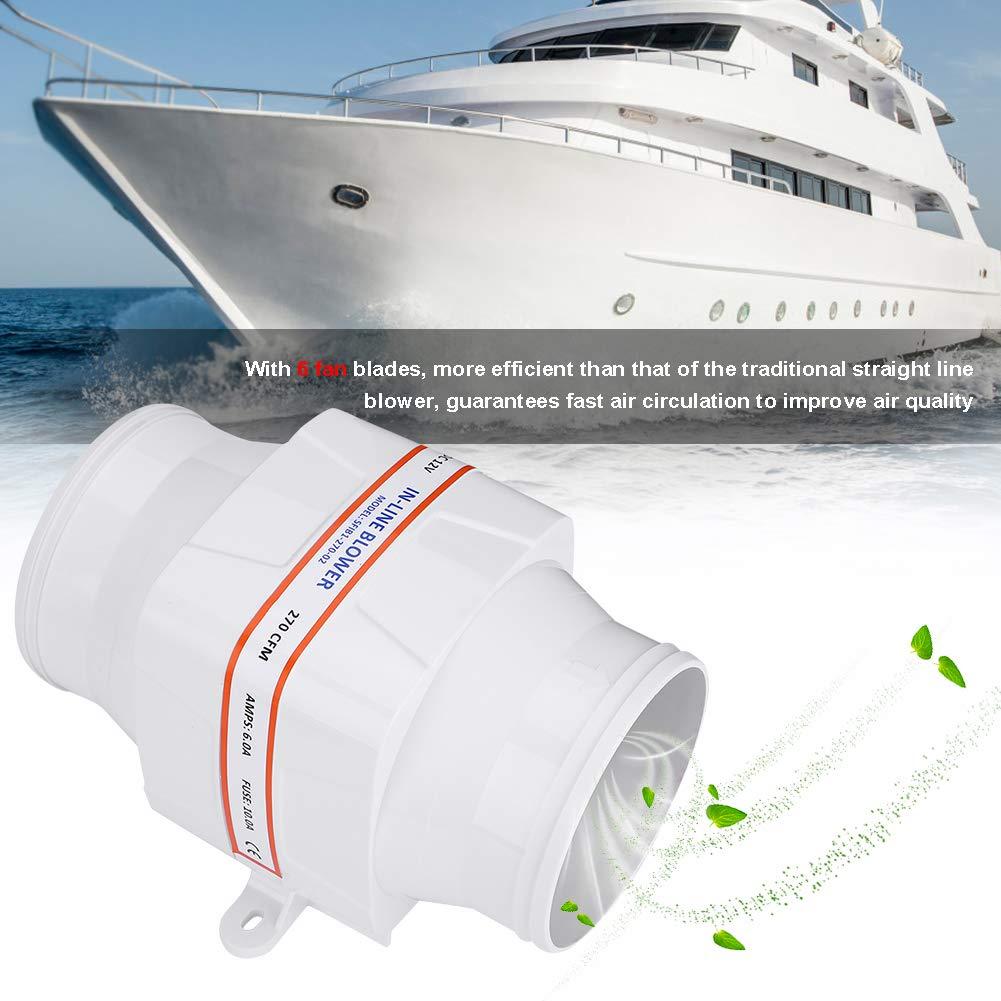3 Inch 12V In Line Boat Bilge Blower Cool Fan Marine Cabin Ventilation