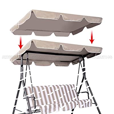 """Thaisan7, Swing Top Seat Cover Canopy Replacement Porch Patio Outdoor, 66"""" L X 45"""" W, Khaki Canopy: Sports & Outdoors"""