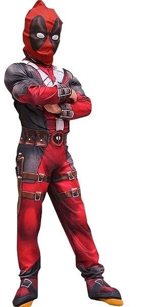 pequeños monelli Traje Deadpool Niño Vestido Super héroes de ...