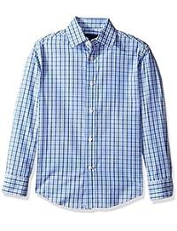 Tommy Hilfiger boys Big Boys Alternating Gingham Shirt