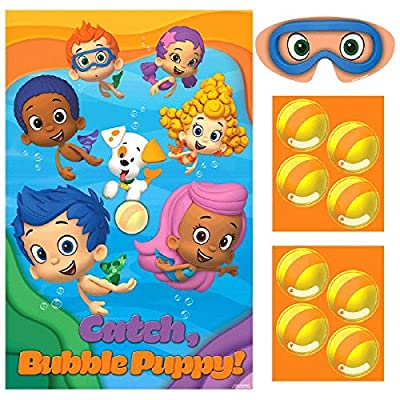 """amscan Aqua Awesome Bubble Guppies Party Game Activity Set, Paper, 37"""" X 24"""" Party Supplies: Toys & Games"""