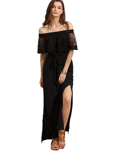 Maxi vestido negro strapless