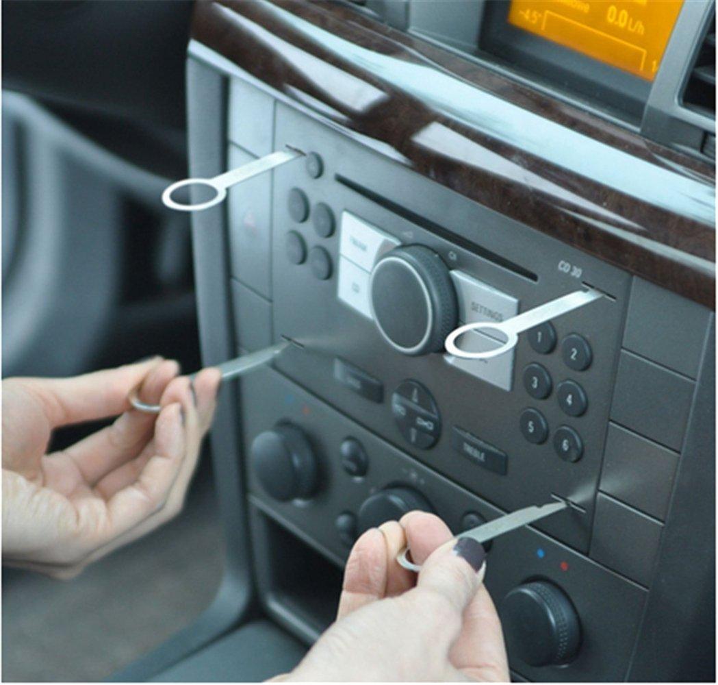... Desmontaje Removedor Extractor Llave para Reparación Instalación de Estéreo Radio CD Audio Coche Auto para VW Audi Ford Mercedes: Amazon.es: Electrónica