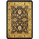 "Decorative Hard Floor Chairmat 3'10""W x 5'D Tan Multi Finish"