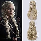 Daenerys Targaryen Perücke Game Of Thrones Cosplay Langhaar