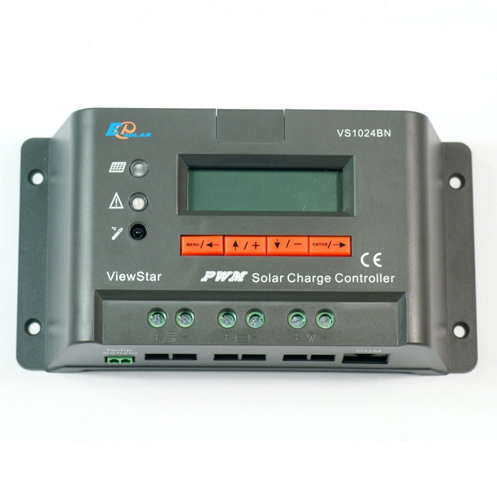 EPsolar Viewstar VS1024BN PWM Solar Charge Controller 10A 12 24V with LCD Display for Solar Battery Charging