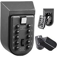 Etbotu Caja de seguridad con cerradura para llaves, caja de almacenamiento para tarjeta de habitación, caja para llaves, contenedor de almacenamiento