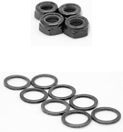 10pcs Skateboard Truck Axle Washers Speed Rings Hardware for Speed and Bearing