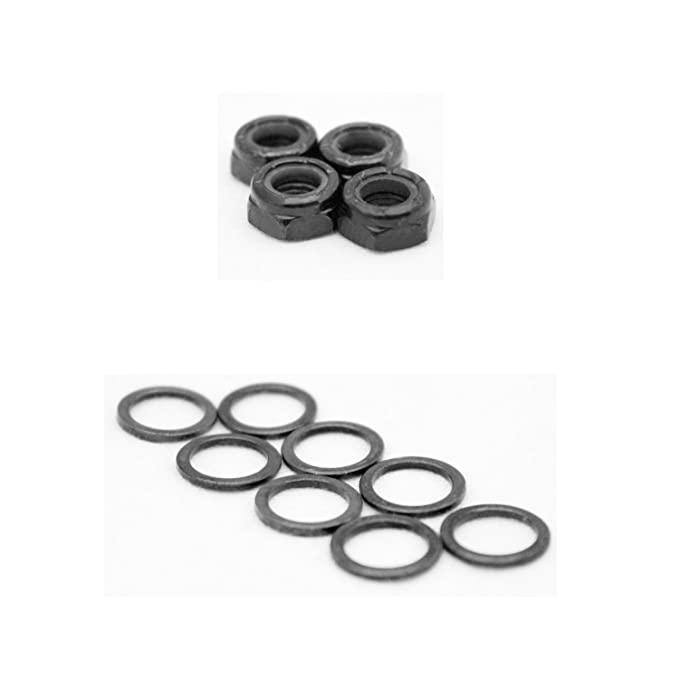 Dime Bag Hardware Skateboard Truck Axle Washers (Speed Rings) Nuts for Speed Bearing Performance