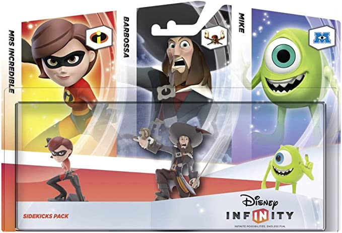 Disney Infinity - Pack 3 Figuras Companion: Helen, Barbossa, Mike ...