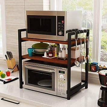 ZMW 3 niveles Soporte para Microondas,Independientes Organizador Estanteria Cocina,soporte para horno,estante para especias,Cocina Bathroom Suministros de Estante de almacenamiento/E / 60x: Amazon.es: Bricolaje y herramientas