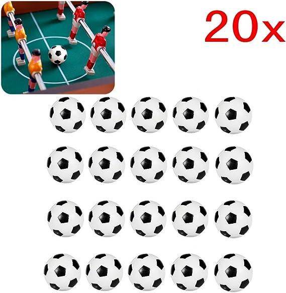 JZK 20 Piezas 32 mm plástico Mesa futbolín balones fútbol para ...