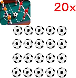 JZK 20 Piezas 32 mm plástico Mesa futbolín balones fútbol para niños y Adultos Fiesta cumpleaños favores Bolsas Fiesta Juego de Juguete: Amazon.es: Juguetes y juegos