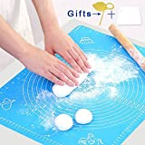 Silicone Baking Mat – Premium Quality, Heat Resistant, BPA Free, Non-Stick Pastry Mat for Rolling Dough – Easy to Clean Silicone Mat - Does Not Discolor-Blue