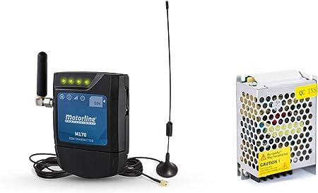 Modulo GSM-Bluetooth Motorline M175-2 canales- apertura y control remoto de puertas o dispositivos mediante llamada telefonica, sms, con smartphone, ...